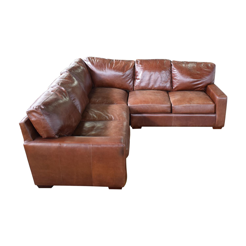 ABC Carpet & Home ABC Carpet & Home Leather Sectional dimensions