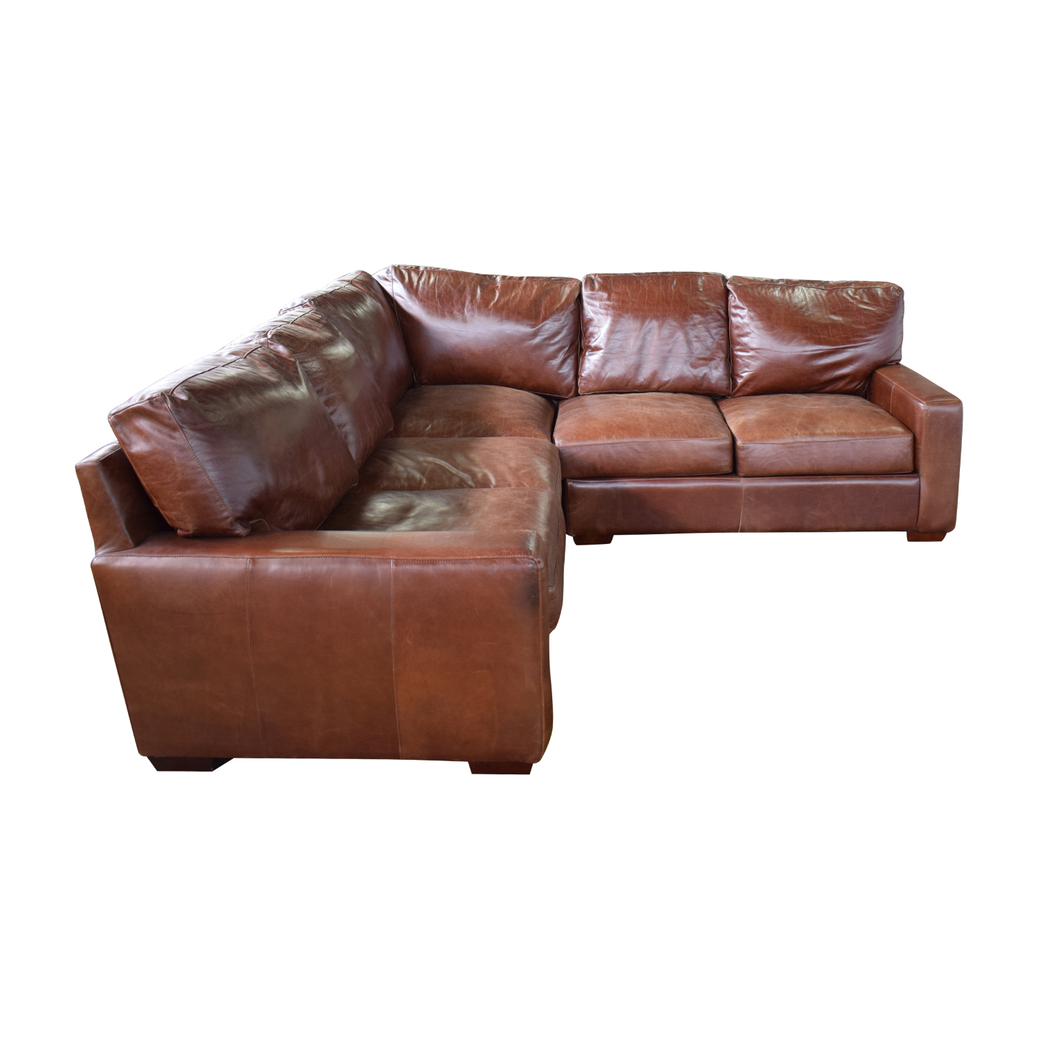 buy ABC Carpet & Home ABC Carpet & Home Leather Sectional online