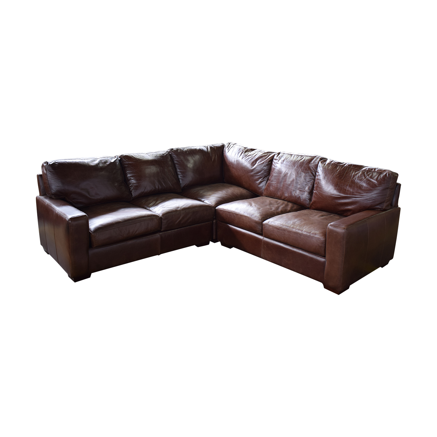 ABC Carpet & Home ABC Carpet & Home Leather Sectional nyc