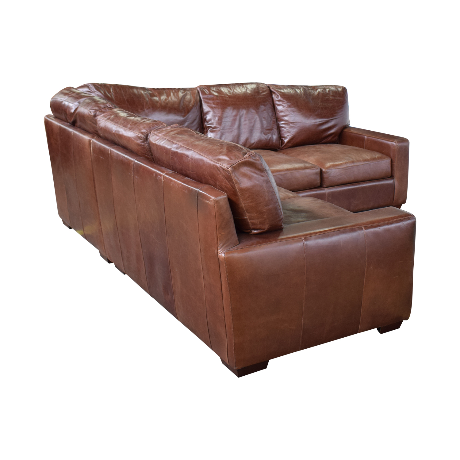 ABC Carpet & Home ABC Carpet & Home Leather Sectional Sectionals