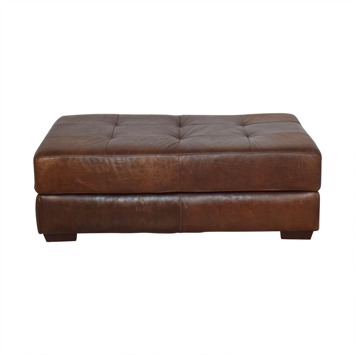 shop ABC Carpet & Home Leather Cocktail Ottoman ABC Carpet & Home Ottomans