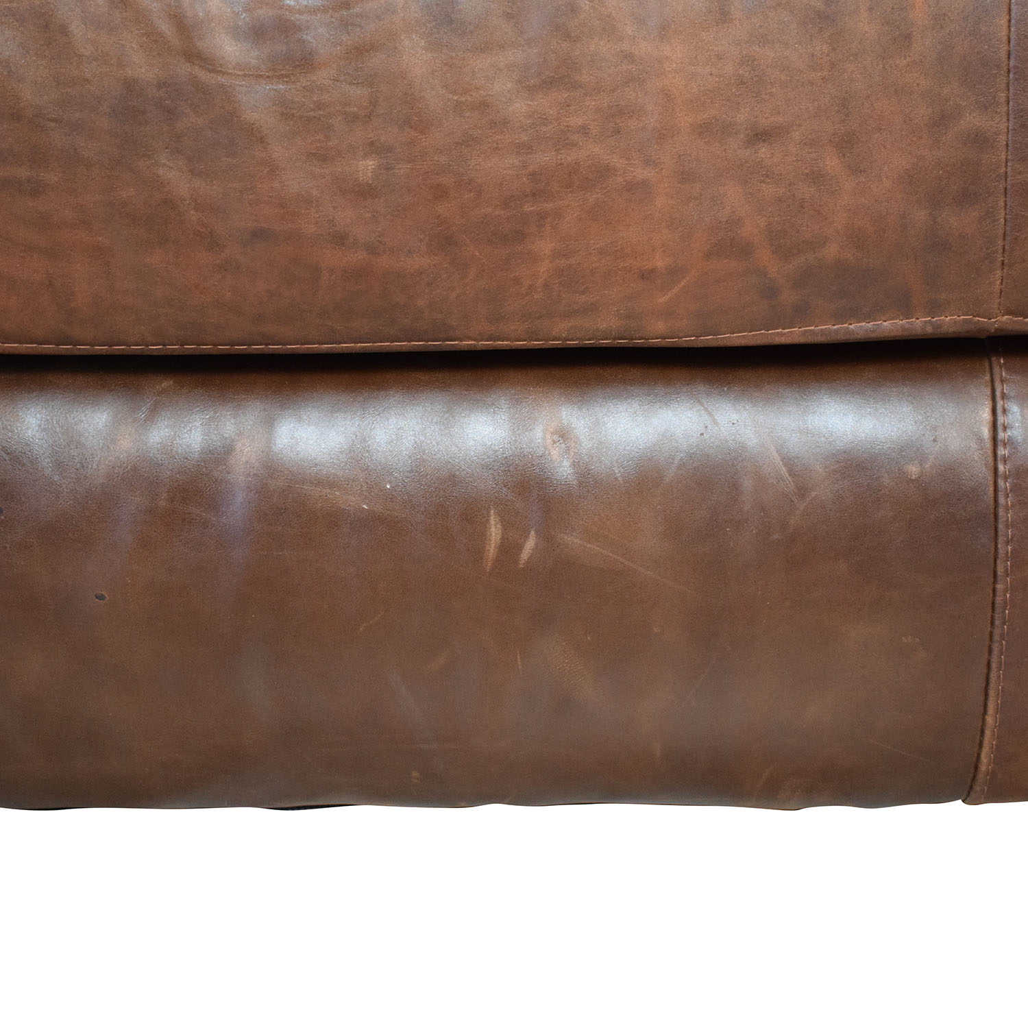 buy ABC Carpet & Home ABC Carpet & Home Leather Cocktail Ottoman online