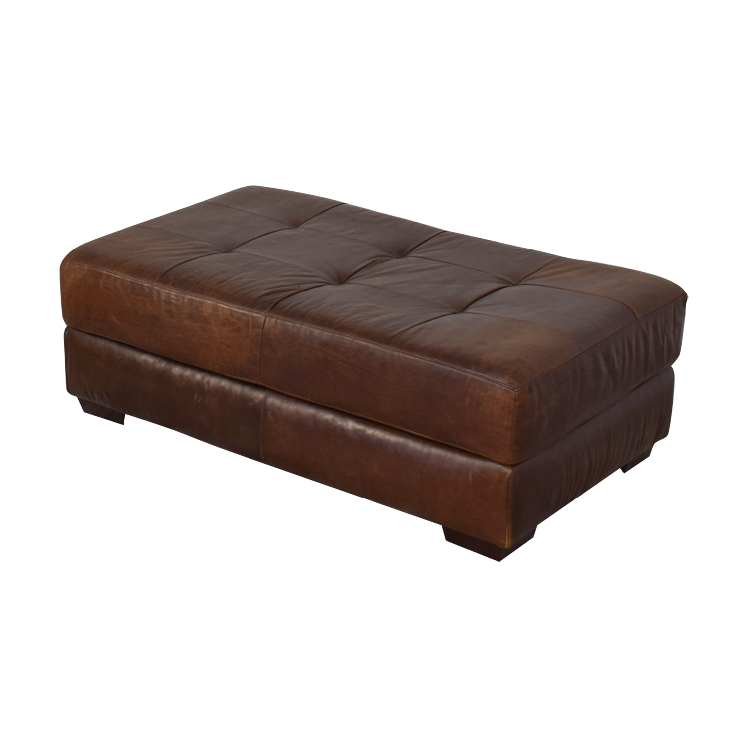 buy ABC Carpet & Home Leather Cocktail Ottoman ABC Carpet & Home