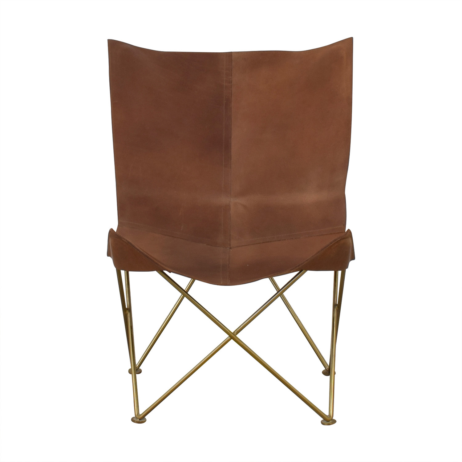 CB2 CB2 Leather Butterfly Chair discount