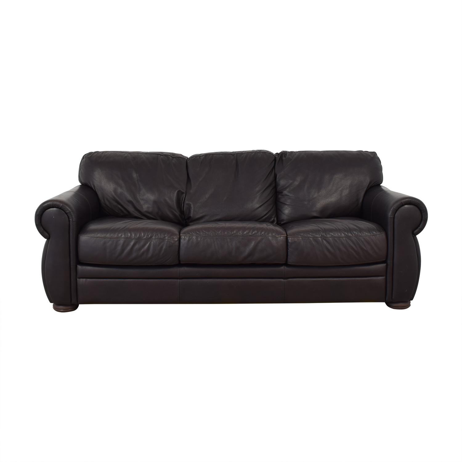 Raymour & Flanigan Raymour & Flanigan Leather Sleeper Sofa dimensions