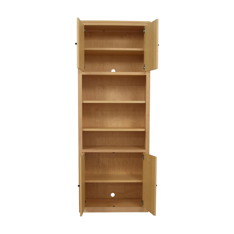 buy Room & Board Woodwind Bookcase with Doors Room & Board