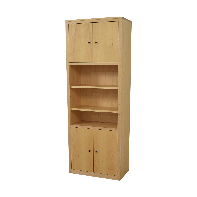 Room & Board Room & Board Woodwind Bookcase with Doors Storage
