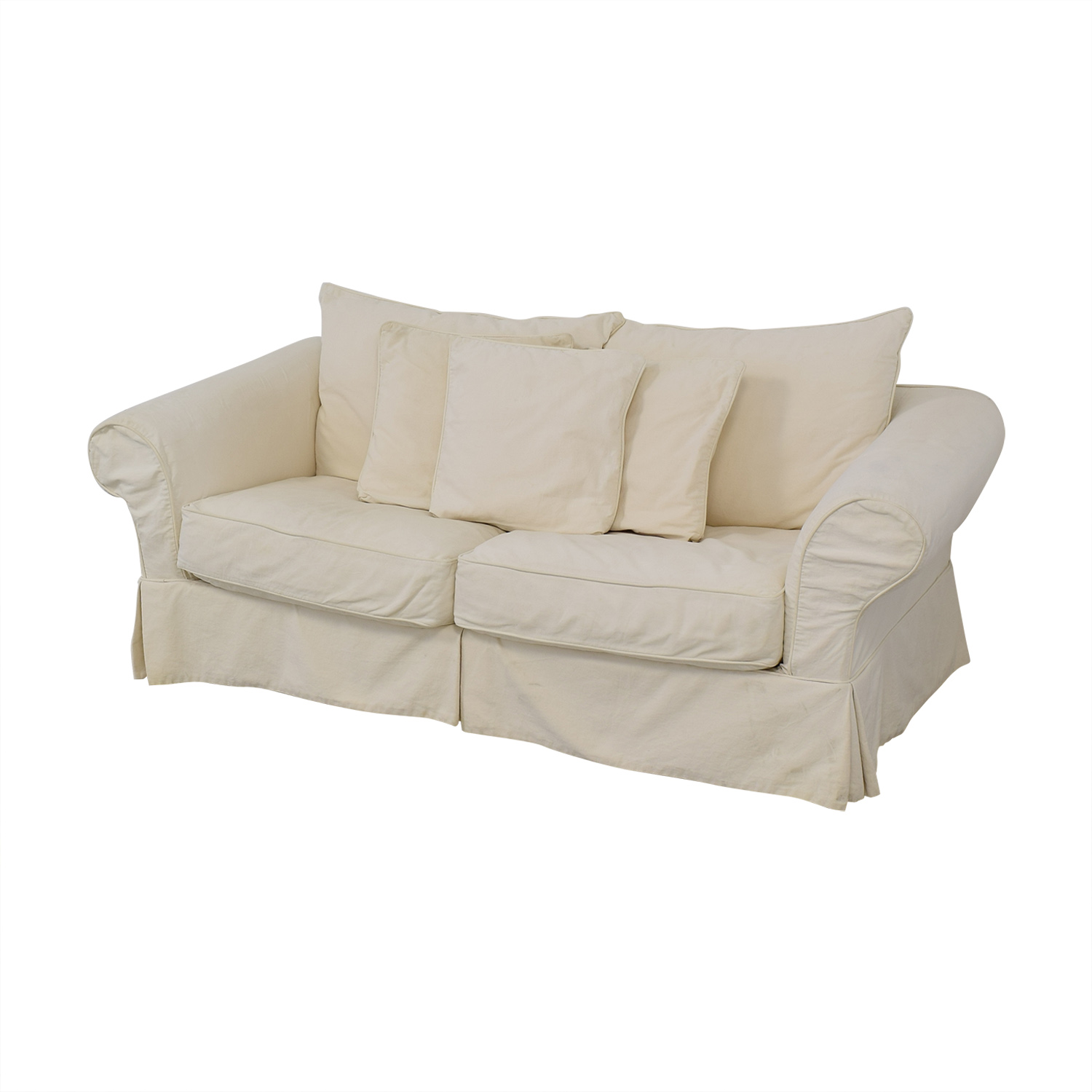 Slipcovered Sleeper Sofa discount