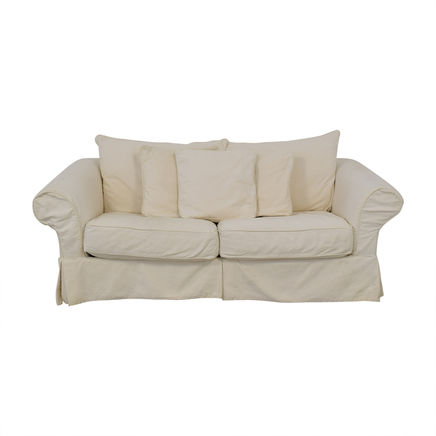 Slipcovered Sleeper Sofa Off White