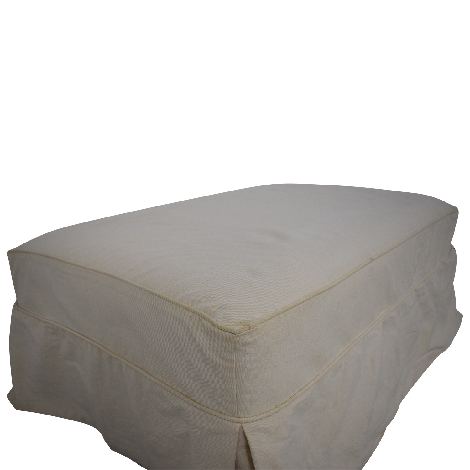 buy Slipcovered Ottoman  Storage