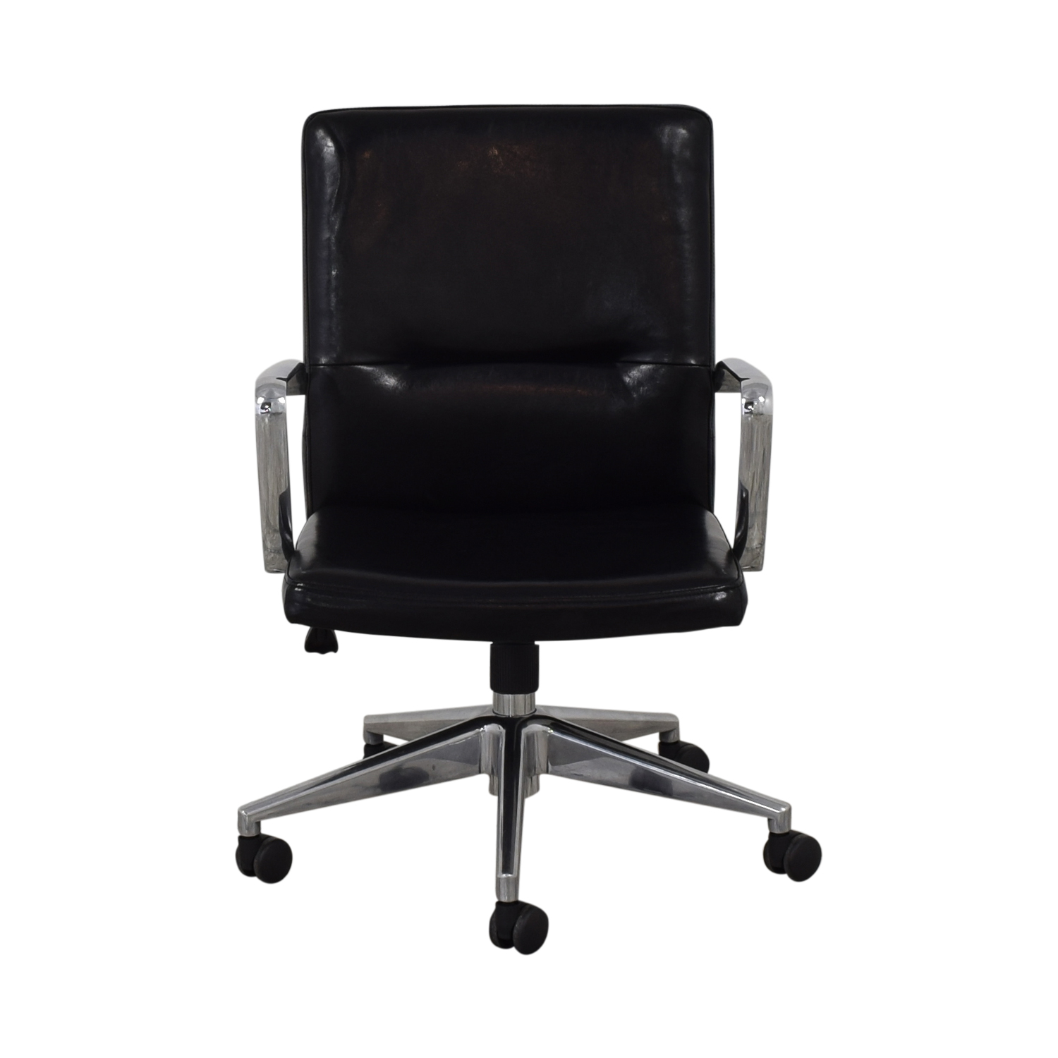 Crate & Barrel Crate & Barrel Office Chair black & silver
