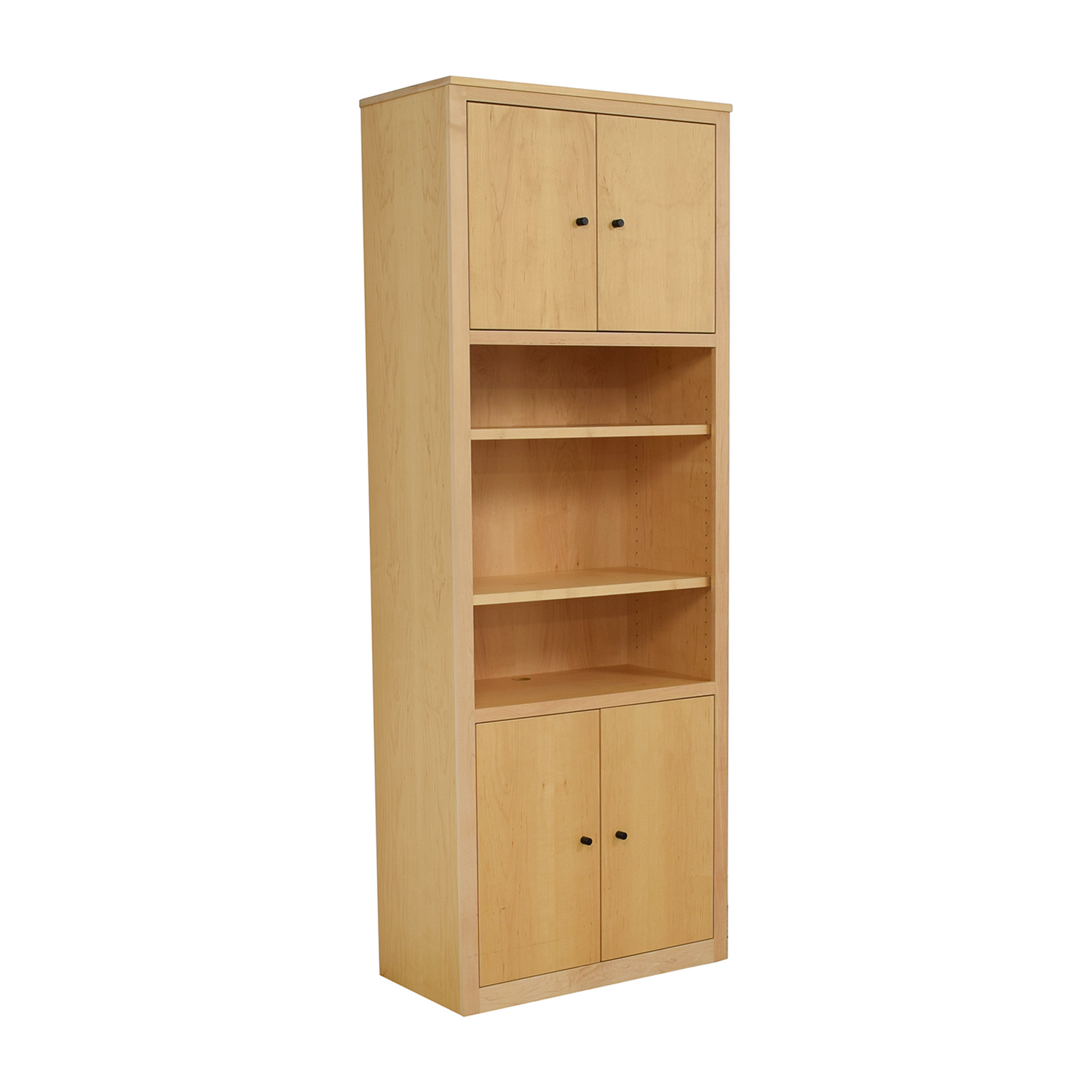 Room & Board Room & Board Woodwind Bookcase with Doors light brown