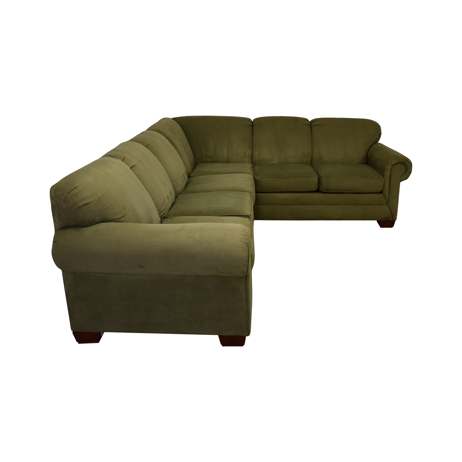 74% OFF - England Furniture England Furniture Green Sectional / Sofas