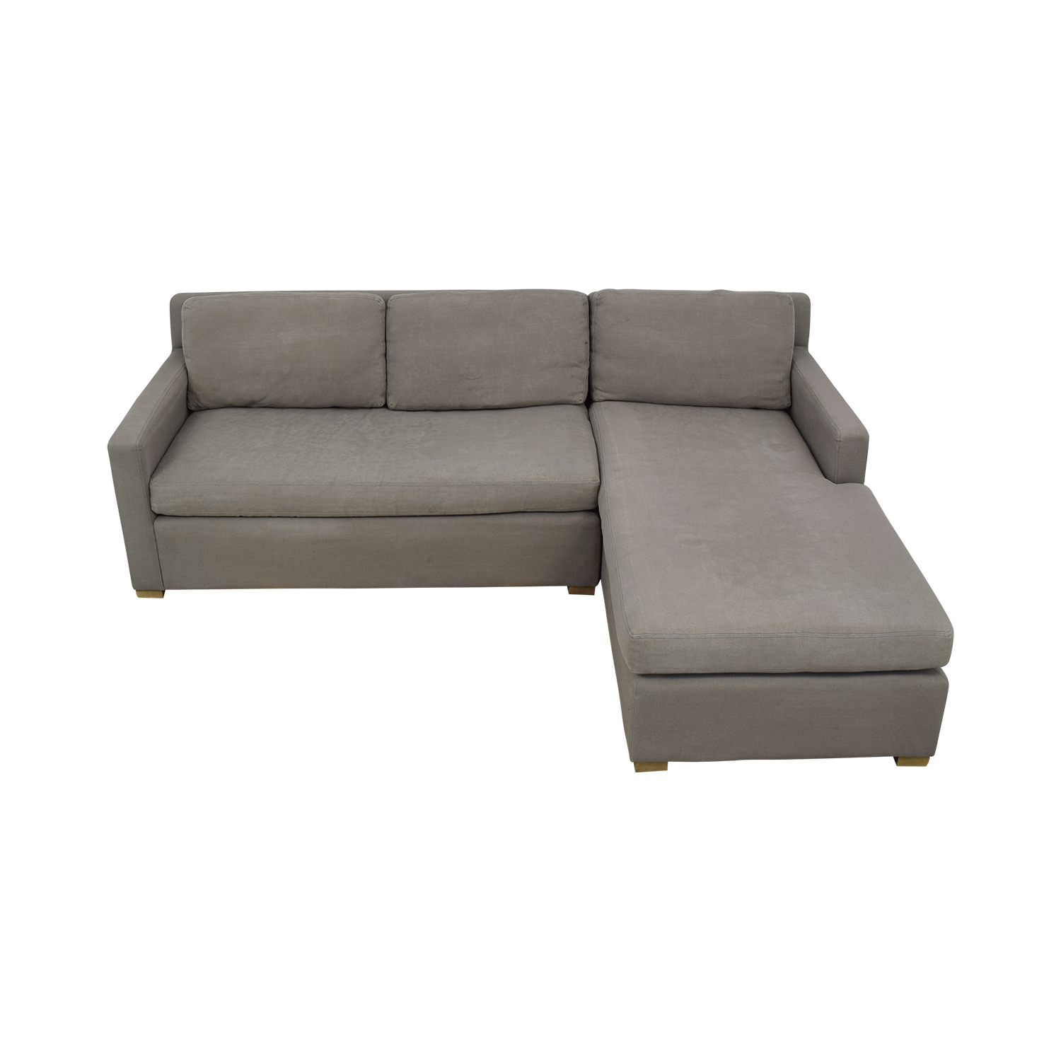 best sneakers ed1b1 a811e 79% OFF - Restoration Hardware Restoration Hardware Belgian Track Arm  Right-Arm Chaise Sectional / Sofas