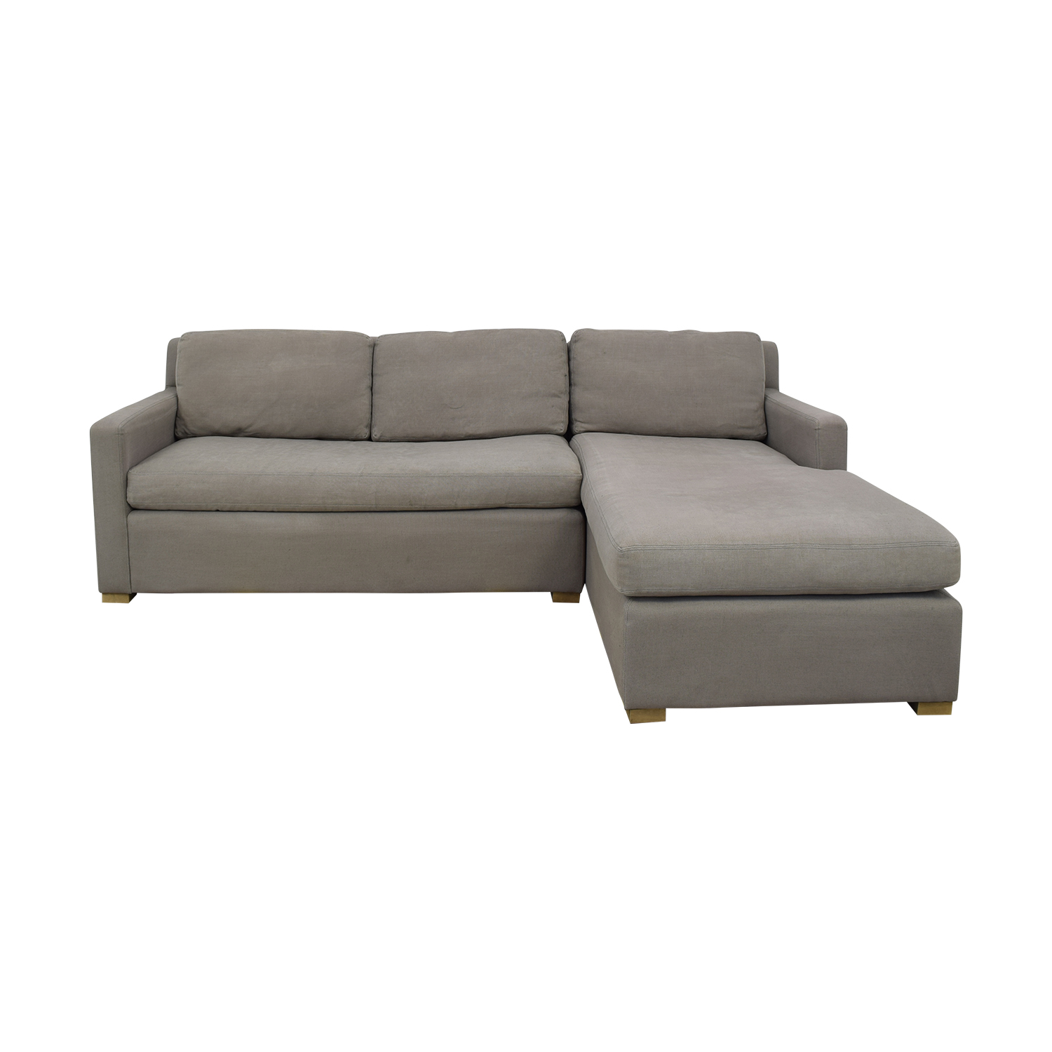shop Restoration Hardware Belgian Track Arm Right-Arm Chaise Sectional Restoration Hardware Chaises
