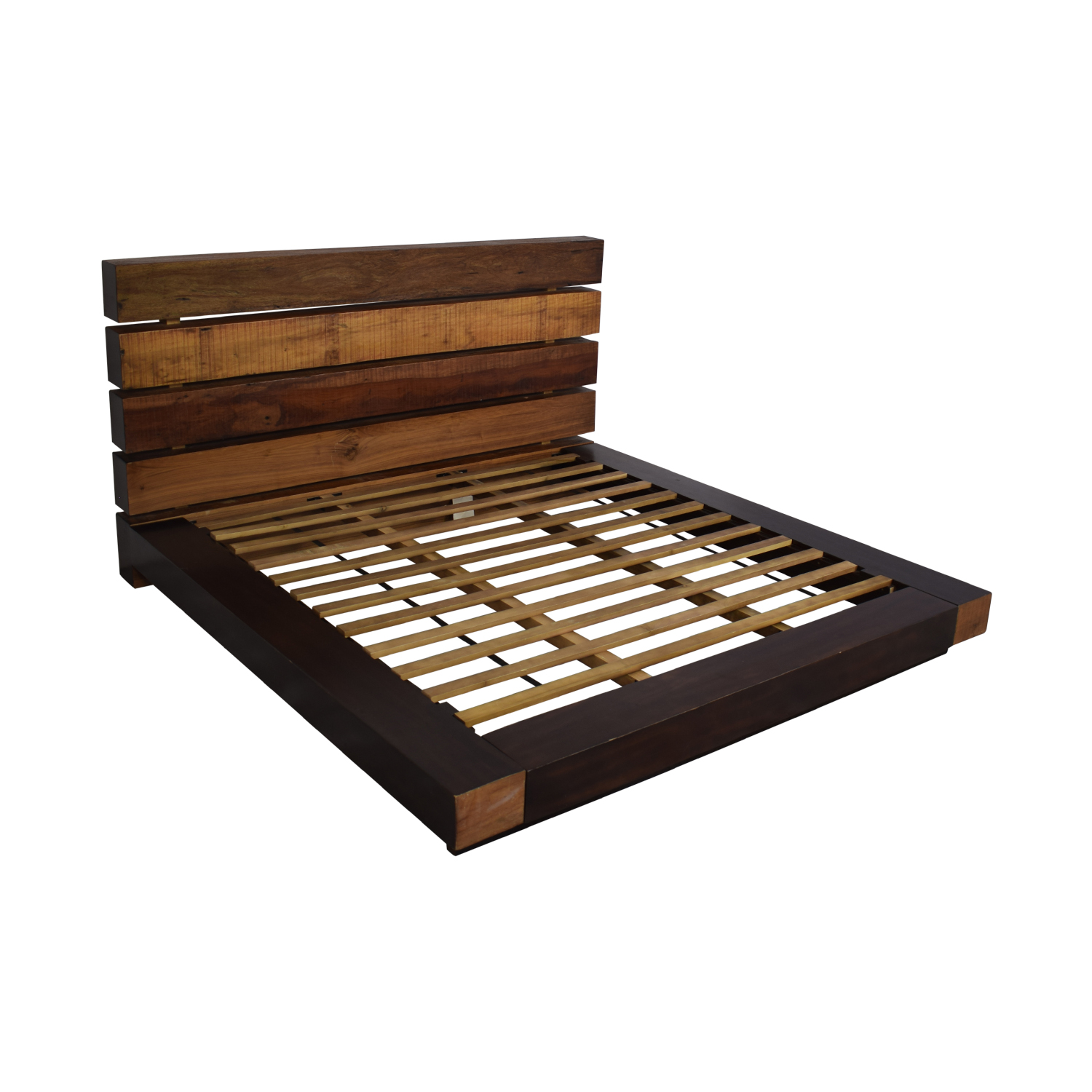 brand new 93b80 5077f 72% OFF - ABC Carpet & Home ABC Carpet & Home King Size Edge Rustic Slat  Bed / Beds