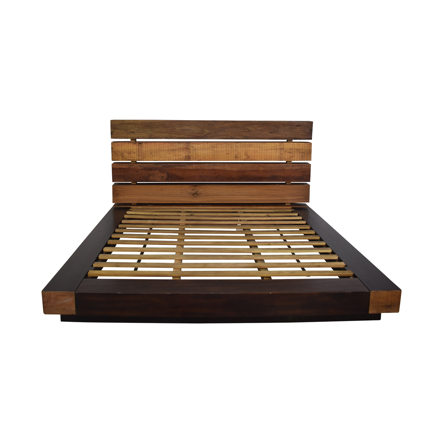 ABC Carpet & Home ABC Carpet &  Home King Size Edge Rustic Slat Bed nj
