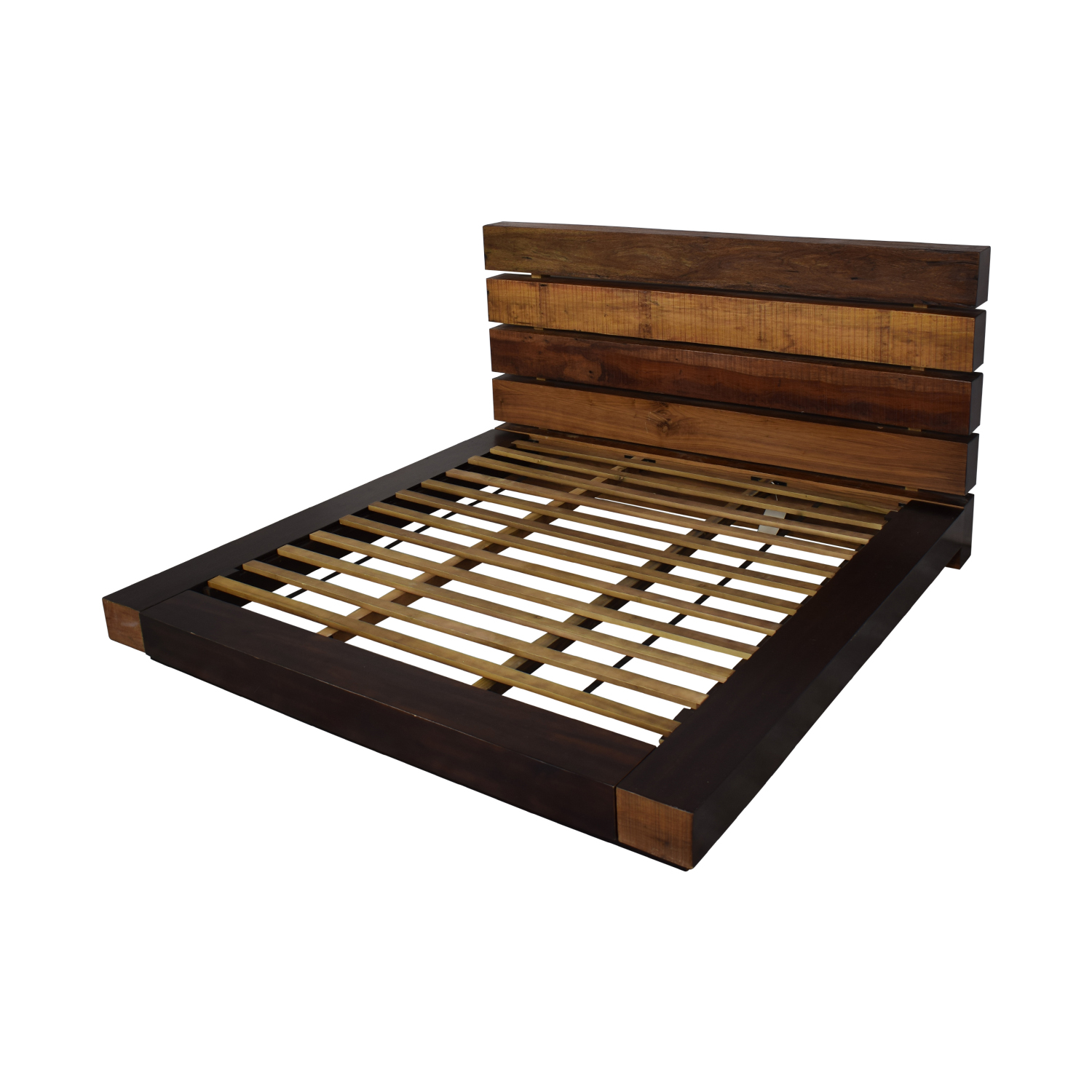 ABC Carpet & Home ABC Carpet &  Home King Size Edge Rustic Slat Bed used