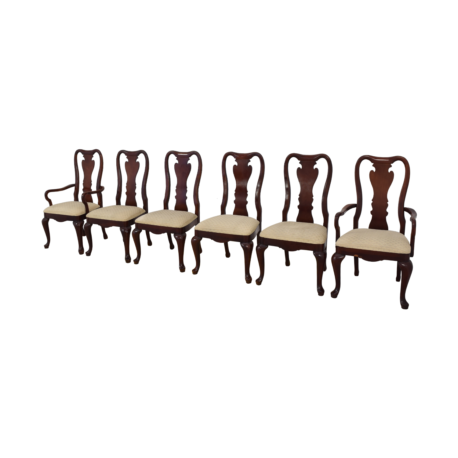 shop Thomasville Traditional Queen Anne Style Dining Chairs Thomasville Chairs