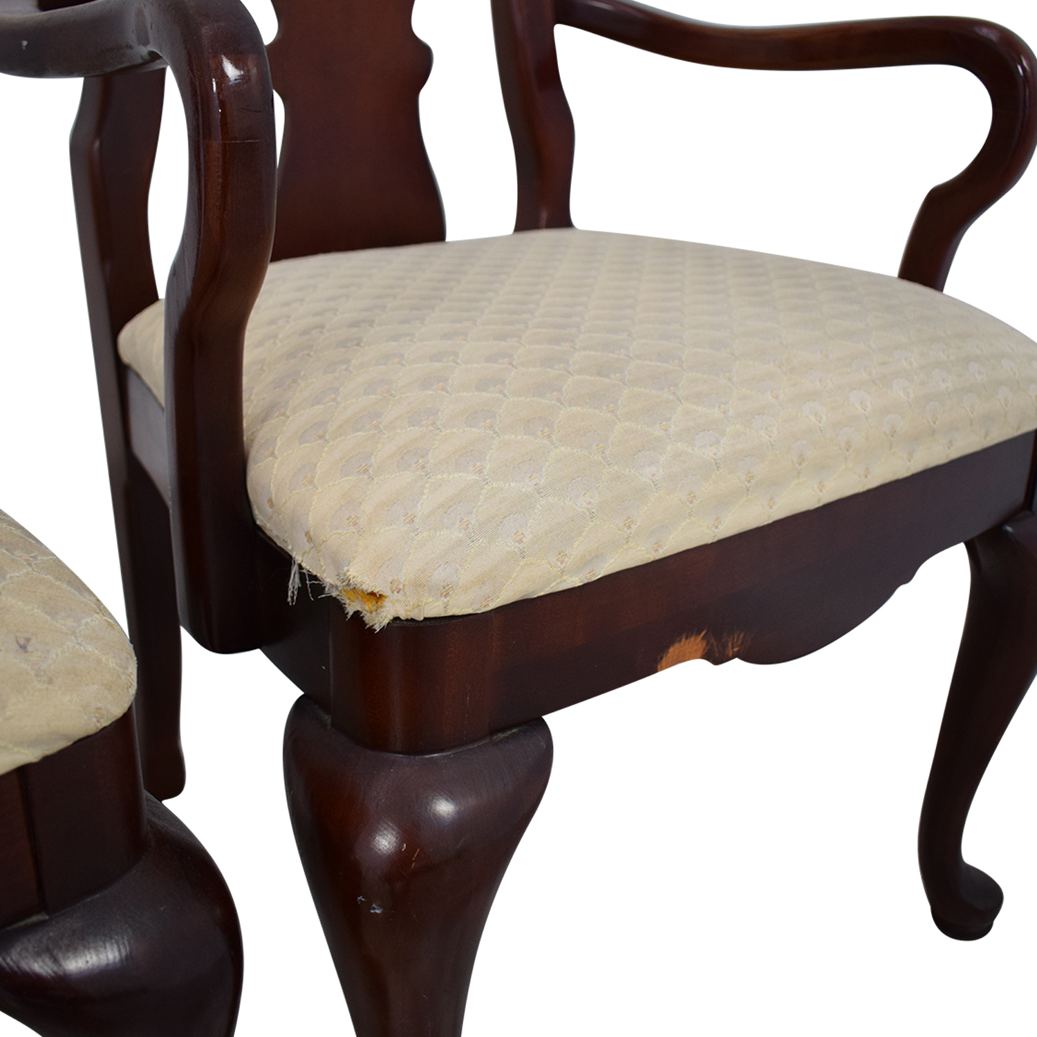shop Thomasville Traditional Queen Anne Style Dining Chairs Thomasville Dining Chairs