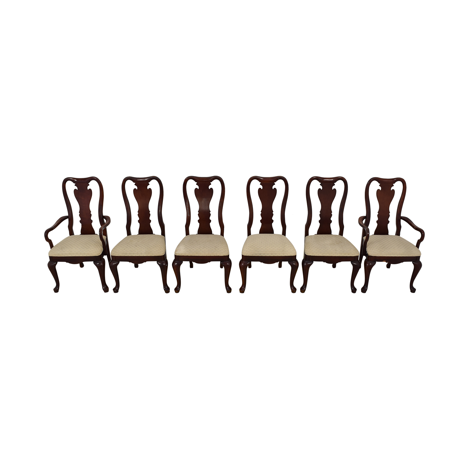 Thomasville Thomasville Traditional Queen Anne Style Dining Chairs nj