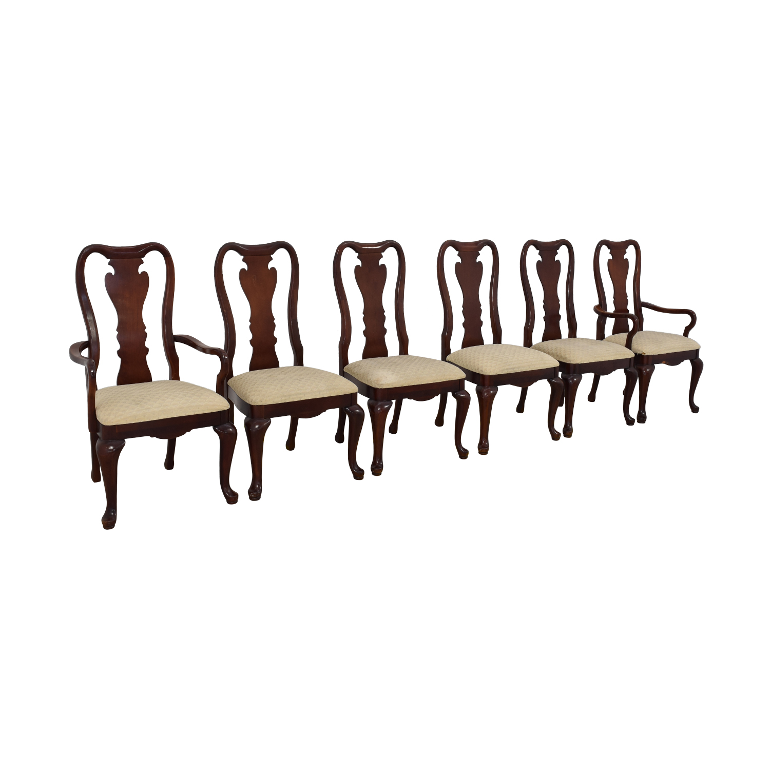 Thomasville Thomasville Traditional Queen Anne Style Dining Chairs dimensions