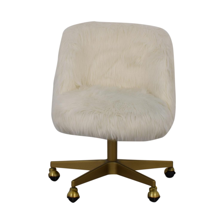 Pleasant 61 Off Restoration Hardware Restoration Hardware Alessa Kashmir Faux Fur Desk Chair Chairs Inzonedesignstudio Interior Chair Design Inzonedesignstudiocom