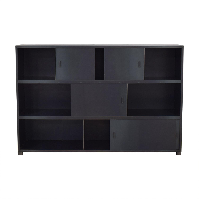 ABC Carpet & Home Bookcase with Sliding Doors sale
