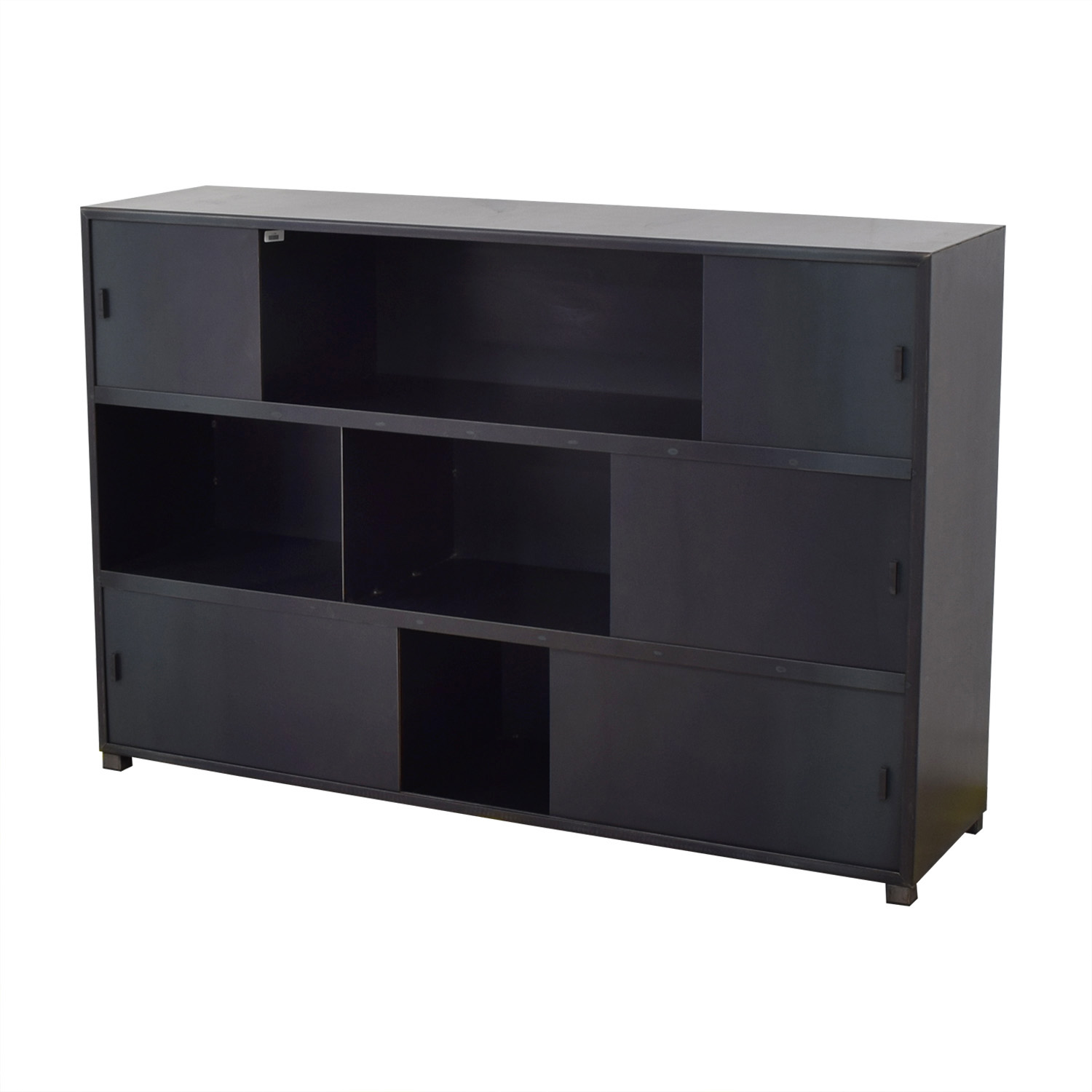 ABC Carpet & Home ABC Carpet & Home Bookcase with Sliding Doors Grey
