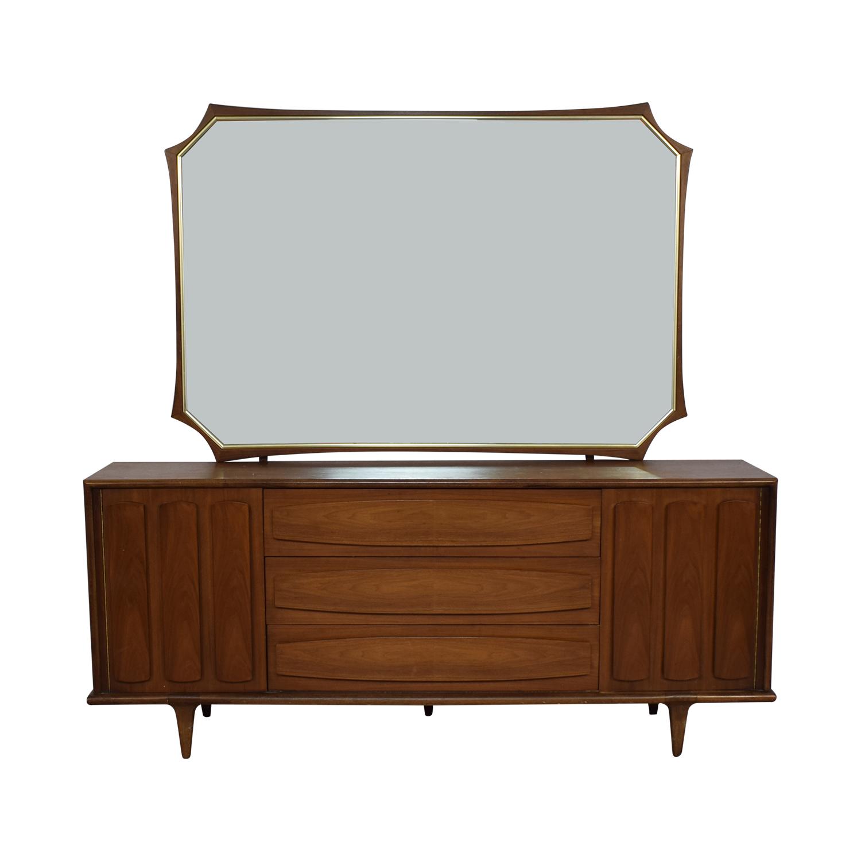 American of Martinsville American of Martinsville Mid Century Modern Dresser & Mirror brown