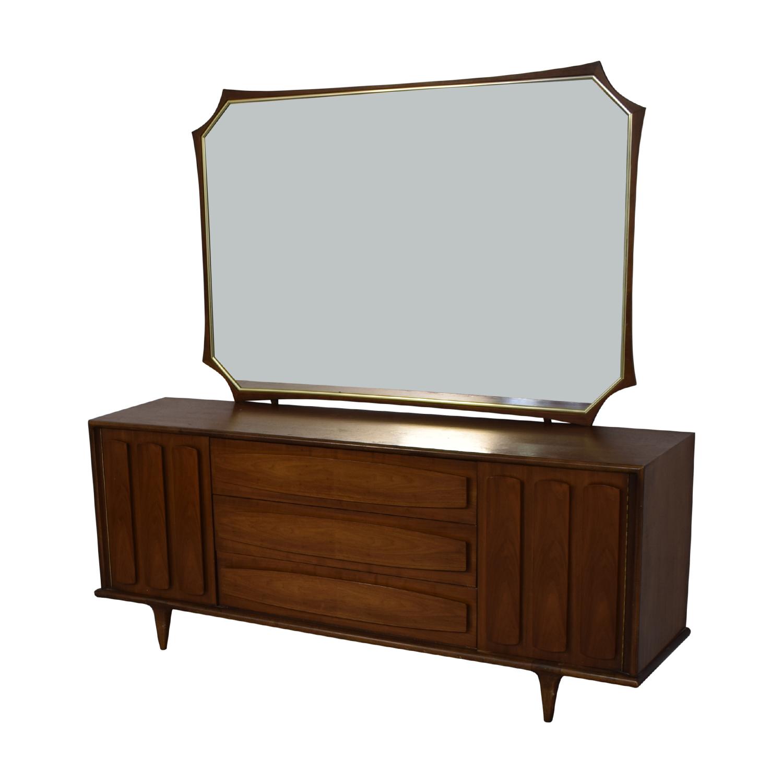 Image of: 78 Off American Of Martinsville American Of Martinsville Mid Century Modern Dresser Mirror Storage