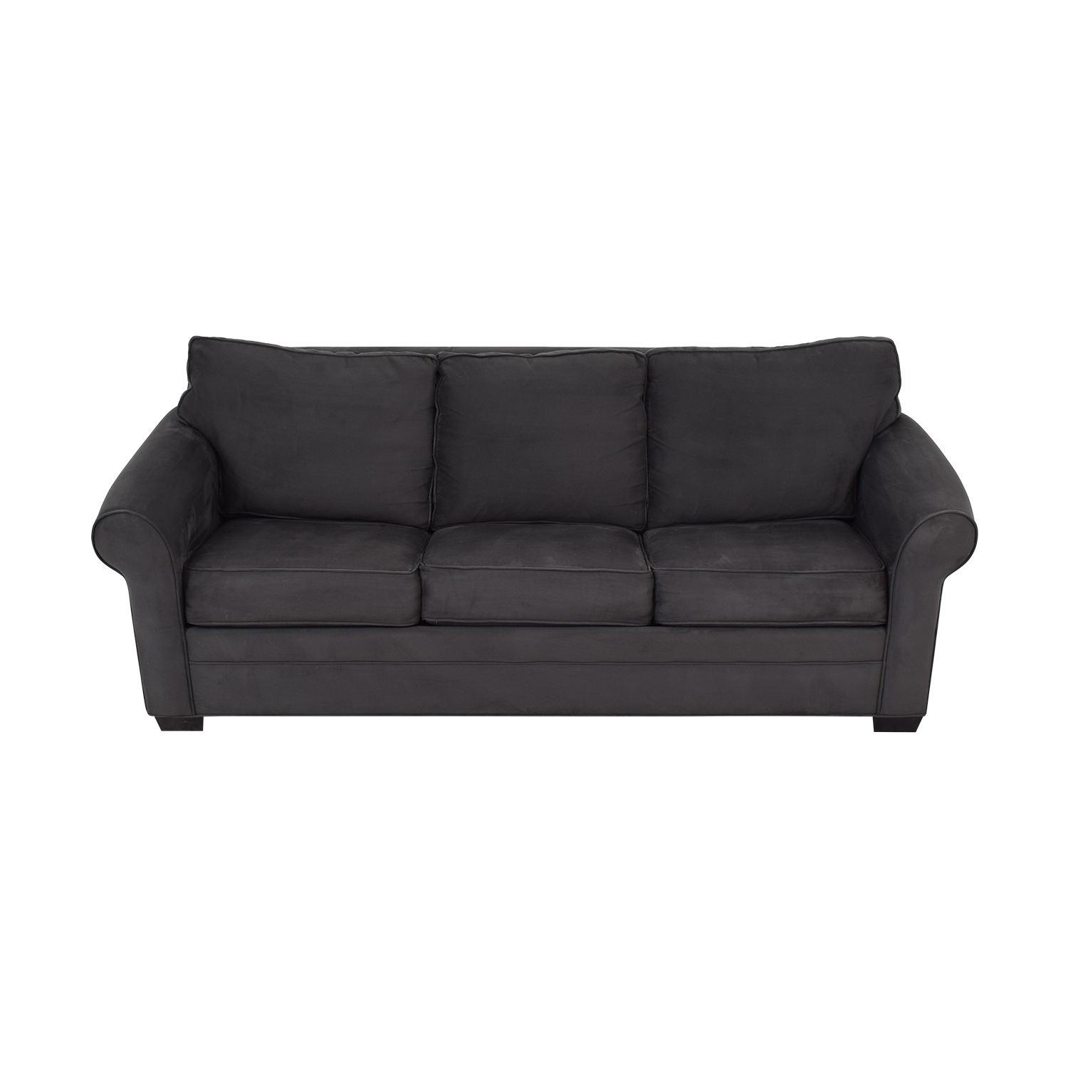 Cindy Crawford Home Grey Microfiber Sleeper Sofa sale