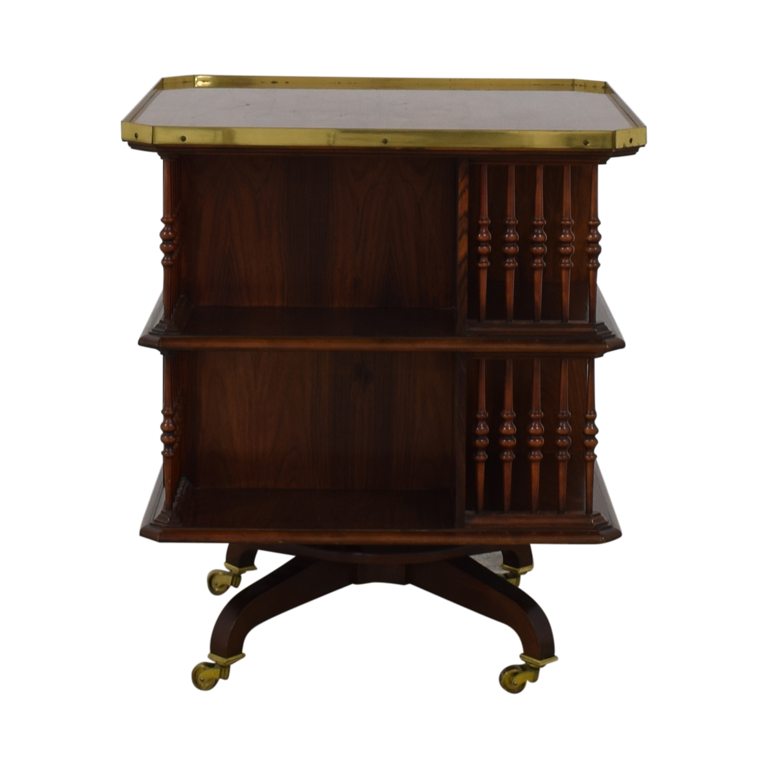 Baker Furniture Baker Furniture Swiveling Library Table brown