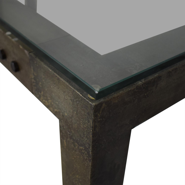 Crate & Barrel Crate & Barrel Industrial Dining Table dimensions