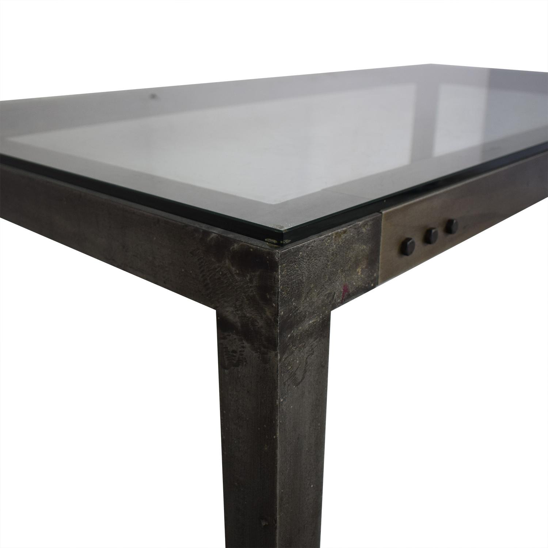 buy Crate & Barrel Industrial Dining Table Crate & Barrel