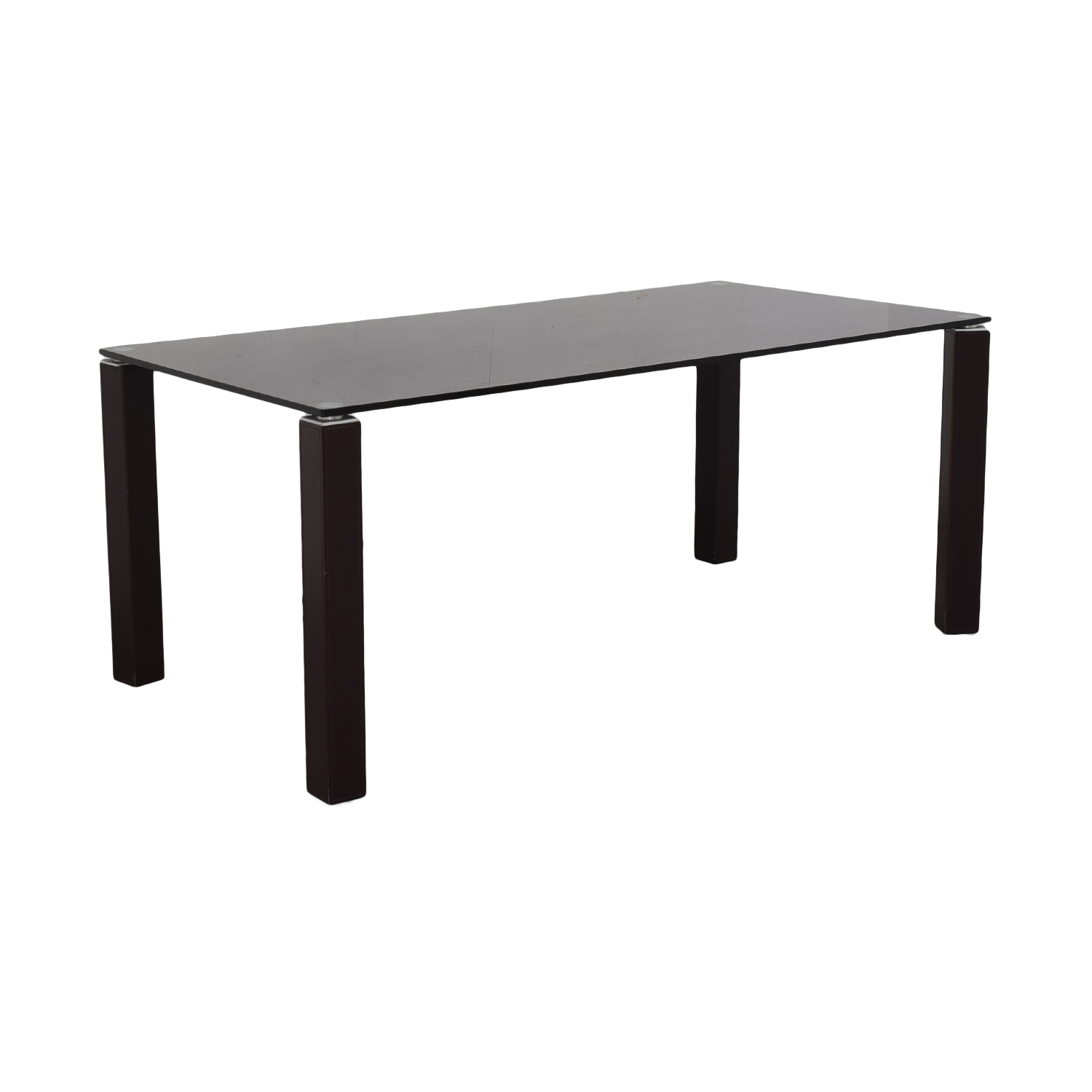 Maurice Villency Maurice Villency Glass Dining Table
