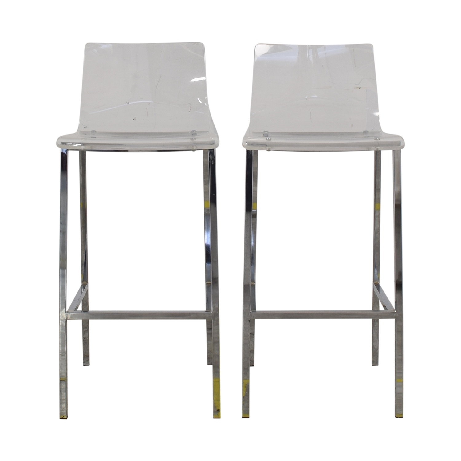 buy CB2 Vapor Acryllic Bar Stools CB2 Chairs