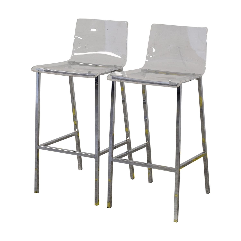 CB2 CB2 Vapor Acryllic Bar Stools Chairs