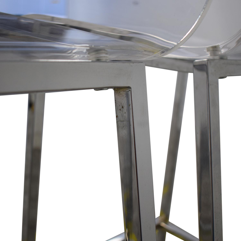 CB2 CB2 Vapor Acryllic Bar Stools discount