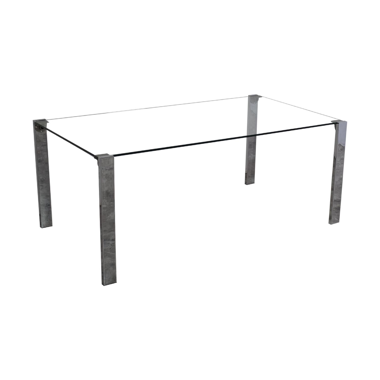 Tonelli Design Tonelli Livingstone Glass Dining Table nj