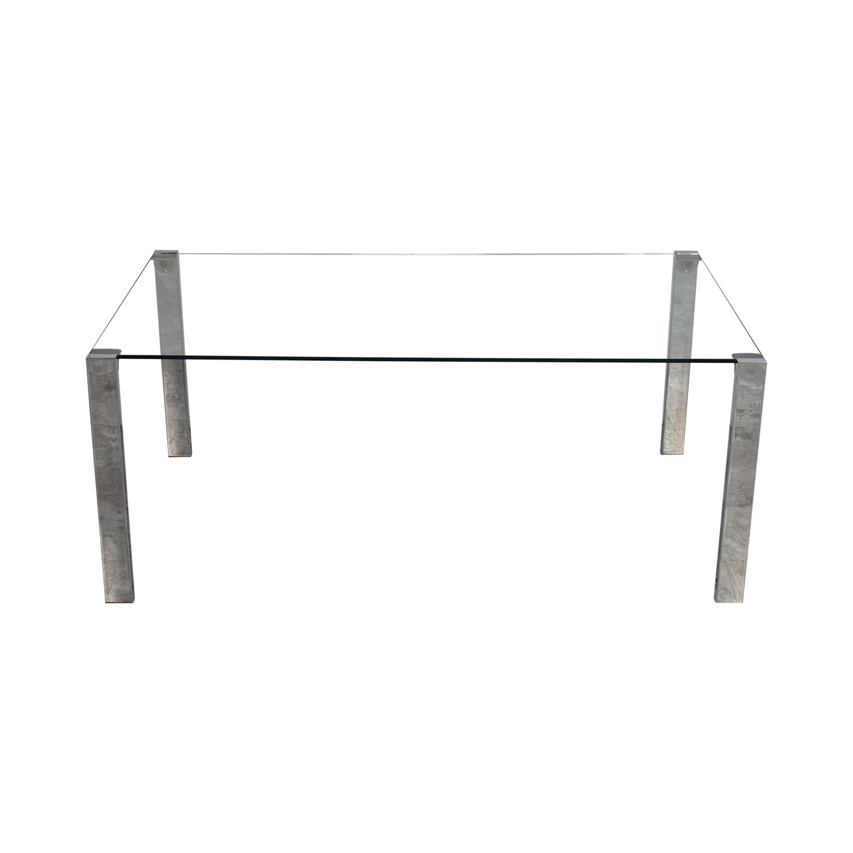 shop Tonelli Livingstone Glass Dining Table Tonelli Design