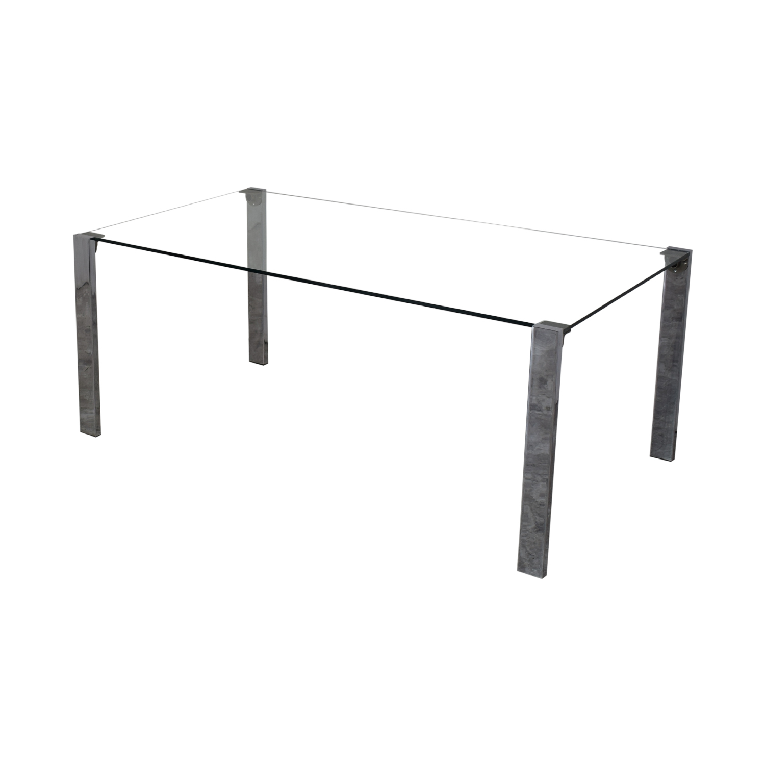 buy Tonelli Design Tonelli Livingstone Glass Dining Table online