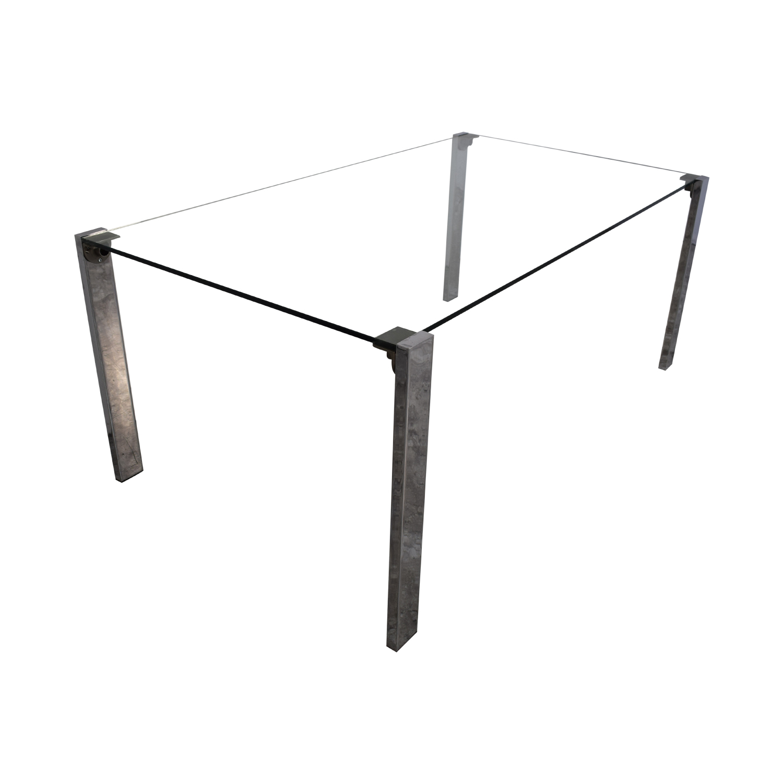 Tonelli Design Tonelli Livingstone Glass Dining Table discount