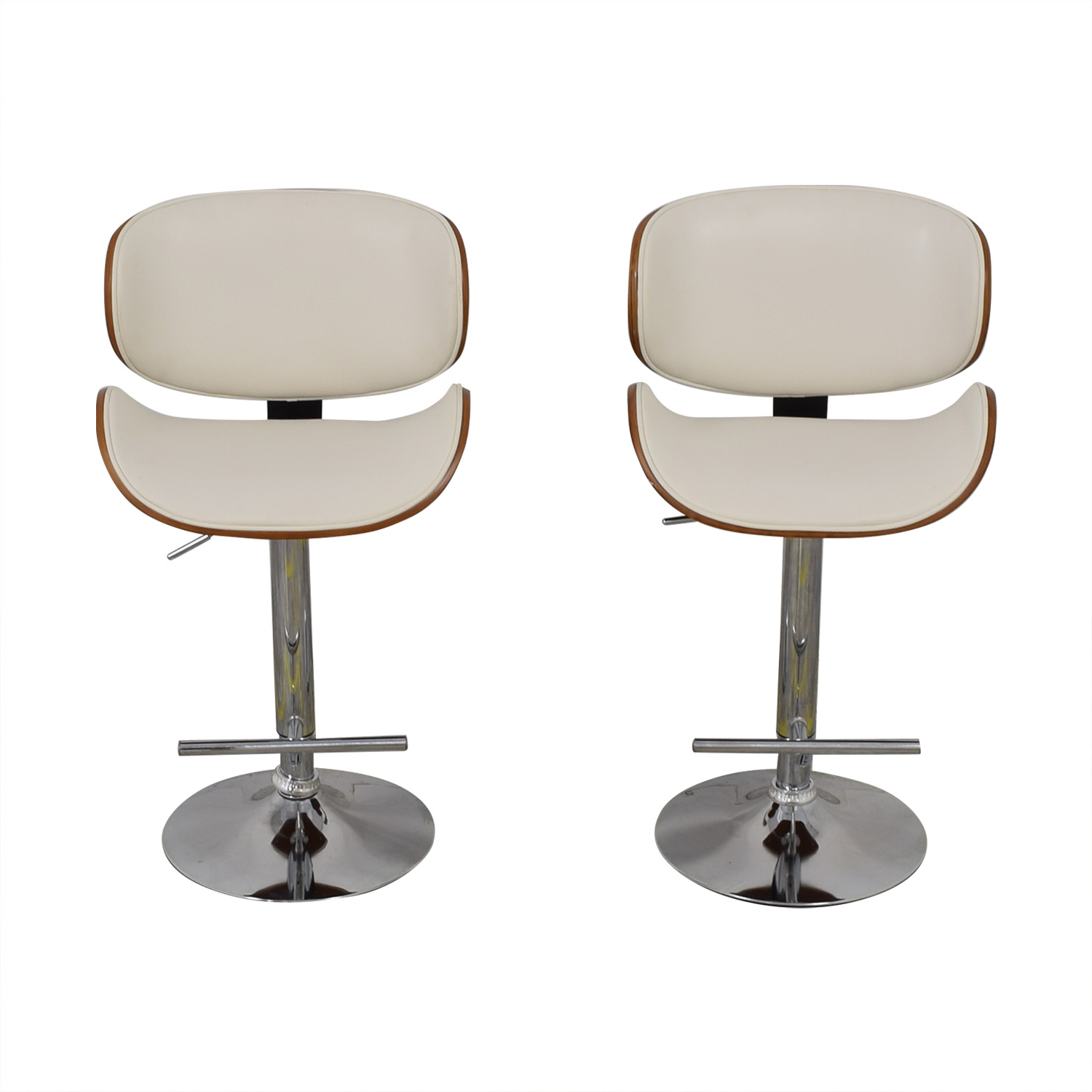 shop Raymour & Flanigan Swivel Bar Stools Raymour & Flanigan