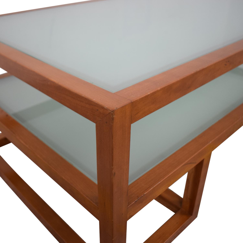 Custom Two Tier Coffee Table nyc