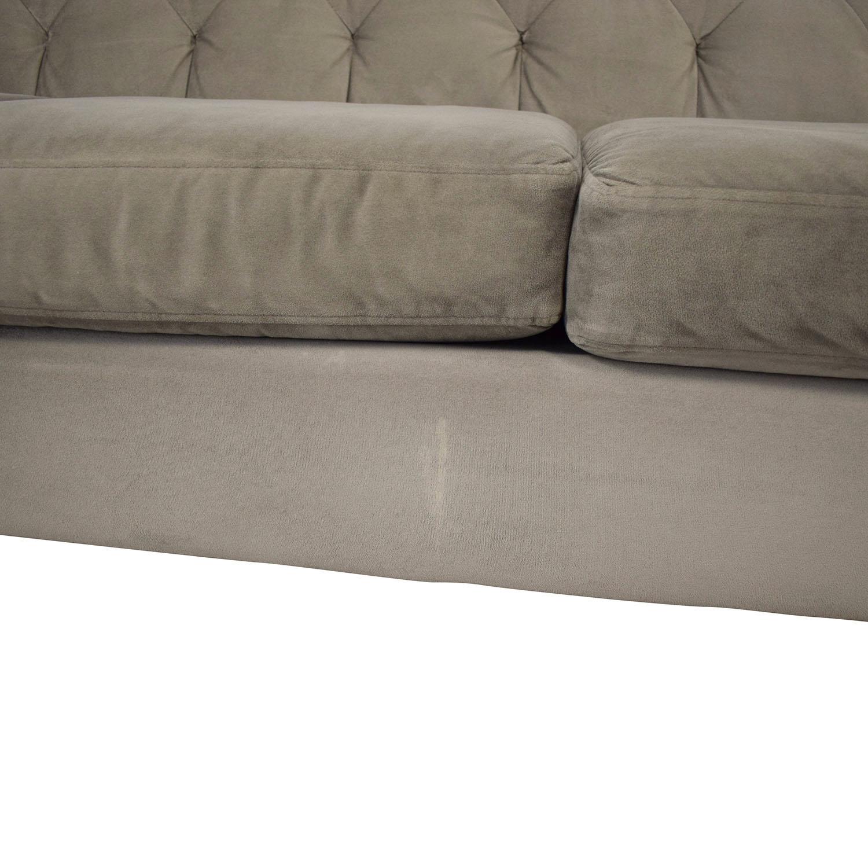 Chloe Velvet Tufted Sofa