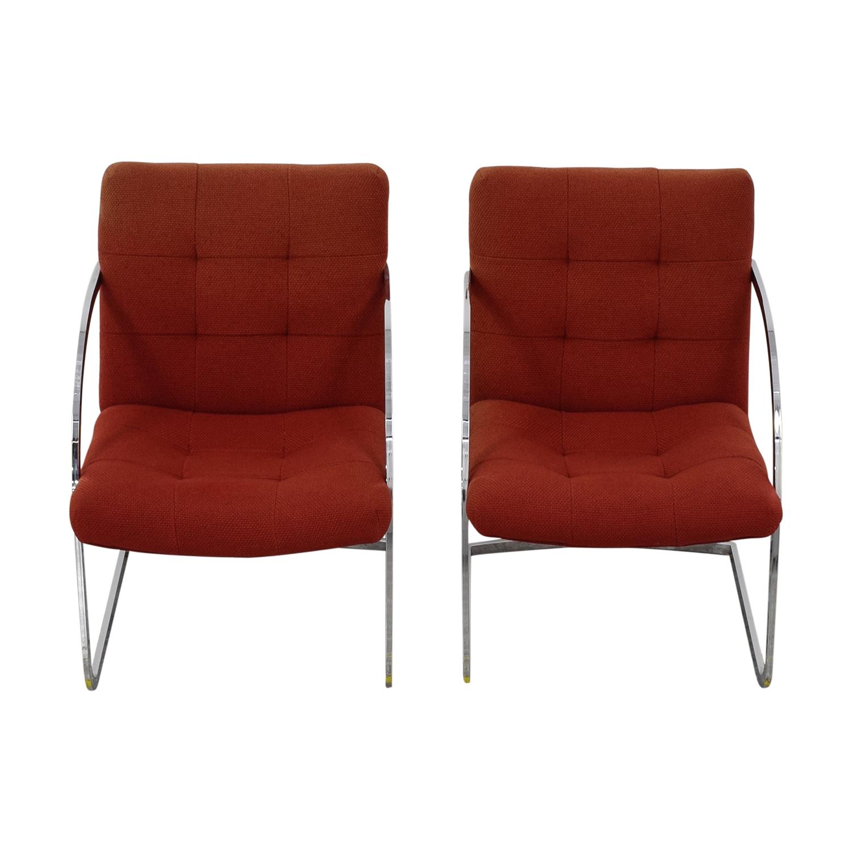 78% OFF   Milo Baughman Milo Baughman Cantilever Chairs / Chairs
