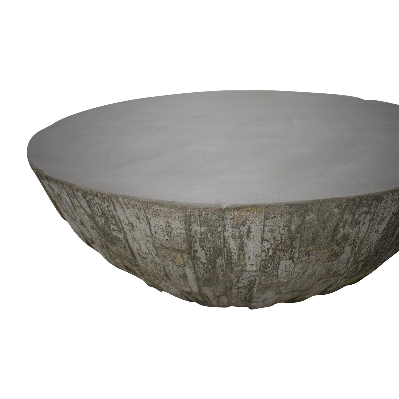 West Elm West Elm Concrete Drum Coffee Table Coffee Tables