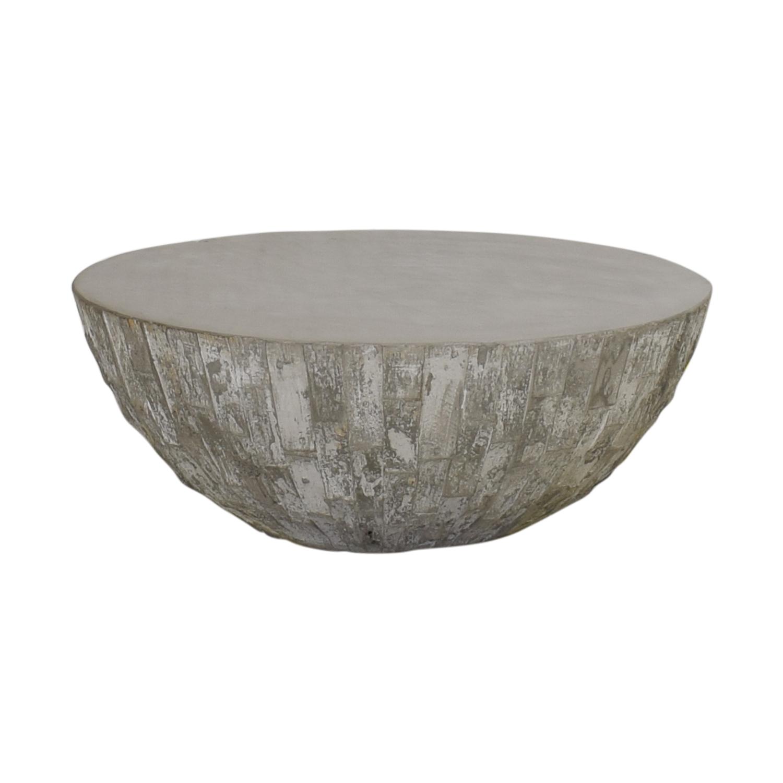 West Elm West Elm Concrete Drum Coffee Table nj