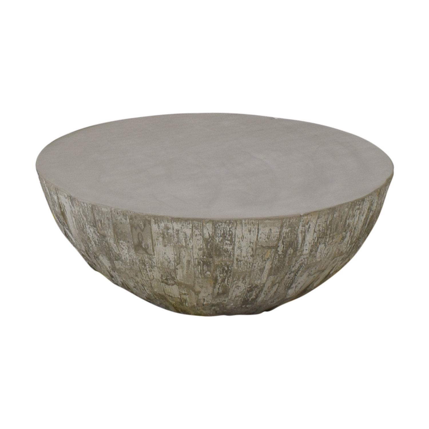 West Elm West Elm Concrete Drum Coffee Table coupon